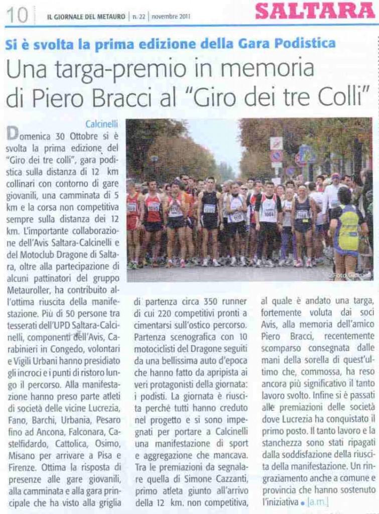 Il Giornale del Metauro, novembre 2011