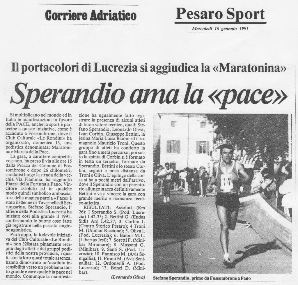 Corriere Adriatico, 16 gennaio 1991